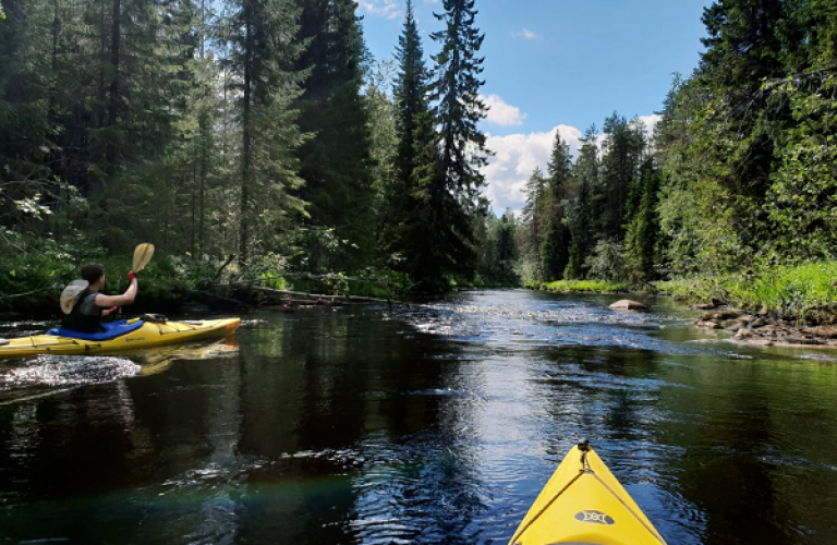 Canoeing in Upper Koitajoki, Finland, KoiHu Adventures