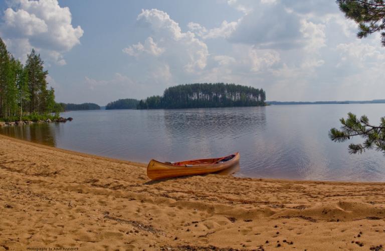 Eines Tages paddeln, Koitere, Finnland, Koihu Adventures